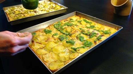 Le délicieuse Focaccia au Pesto